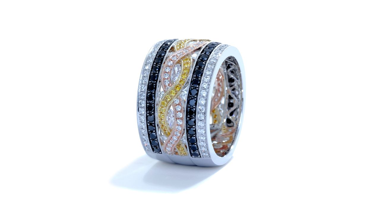 ja7362 - Right Hand Ring 1.93 ct. tw. (in 18k white, rose and yellow gold) at Ascot Diamonds