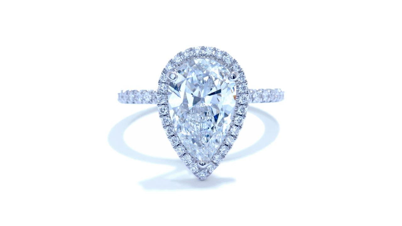 ja7460_d4010a - 3.02 ct Pear Shaped Engagement Ring at Ascot Diamonds