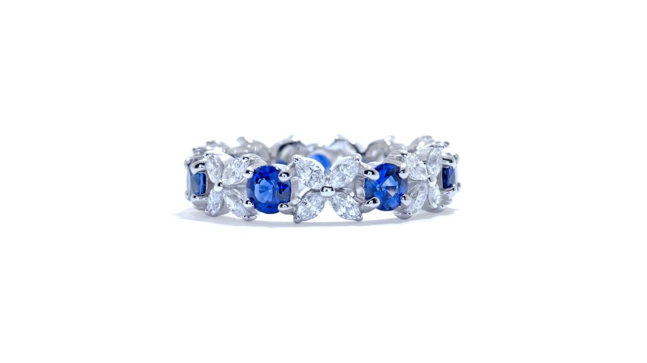 ja7497 - Custom Diamond and Sapphire Ring at Ascot Diamonds