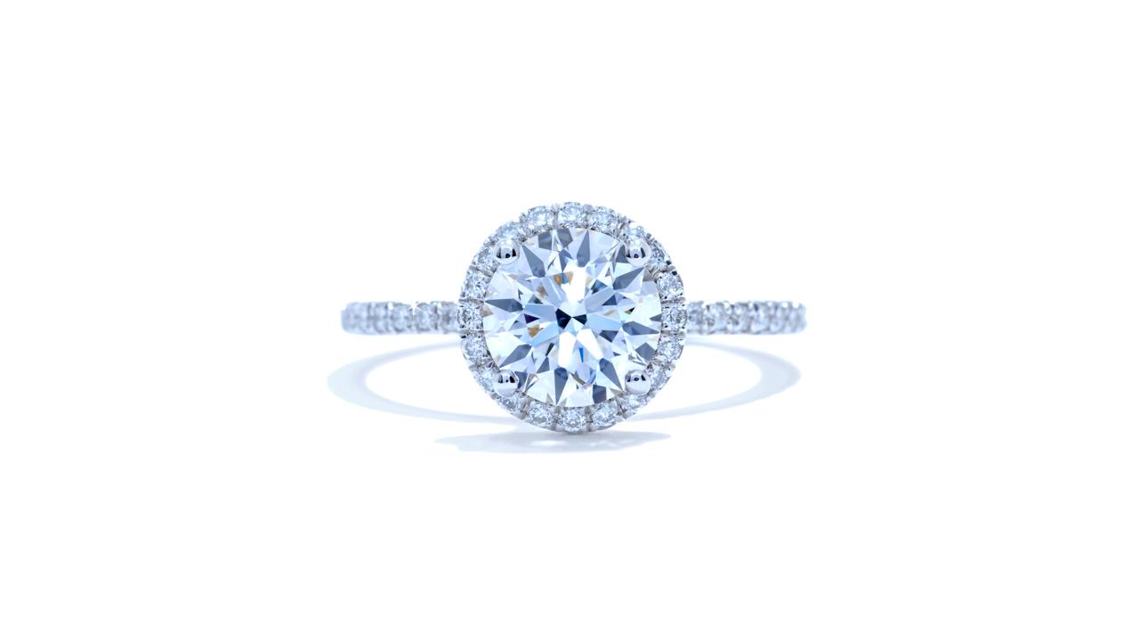 ja7690_d5739 - 1.20ct Round Halo Diamond Engagement Ring at Ascot Diamonds