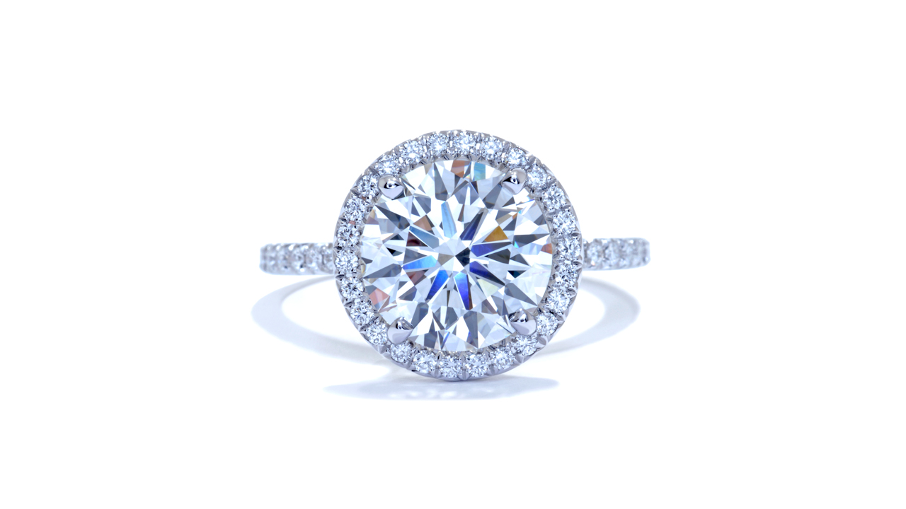 ja7694_d6237 - 2.50ct Round Diamond Halo Engagement Ring at Ascot Diamonds