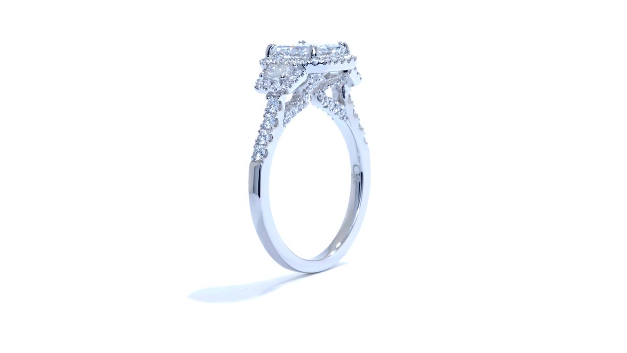 ja7837_d5080 -  Asscher Cut Halo Diamond Engagement Ring at Ascot Diamonds