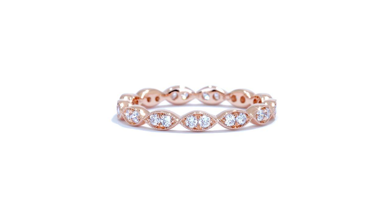 ja7870 - Marquise Pattern Diamond Wedding Band at Ascot Diamonds