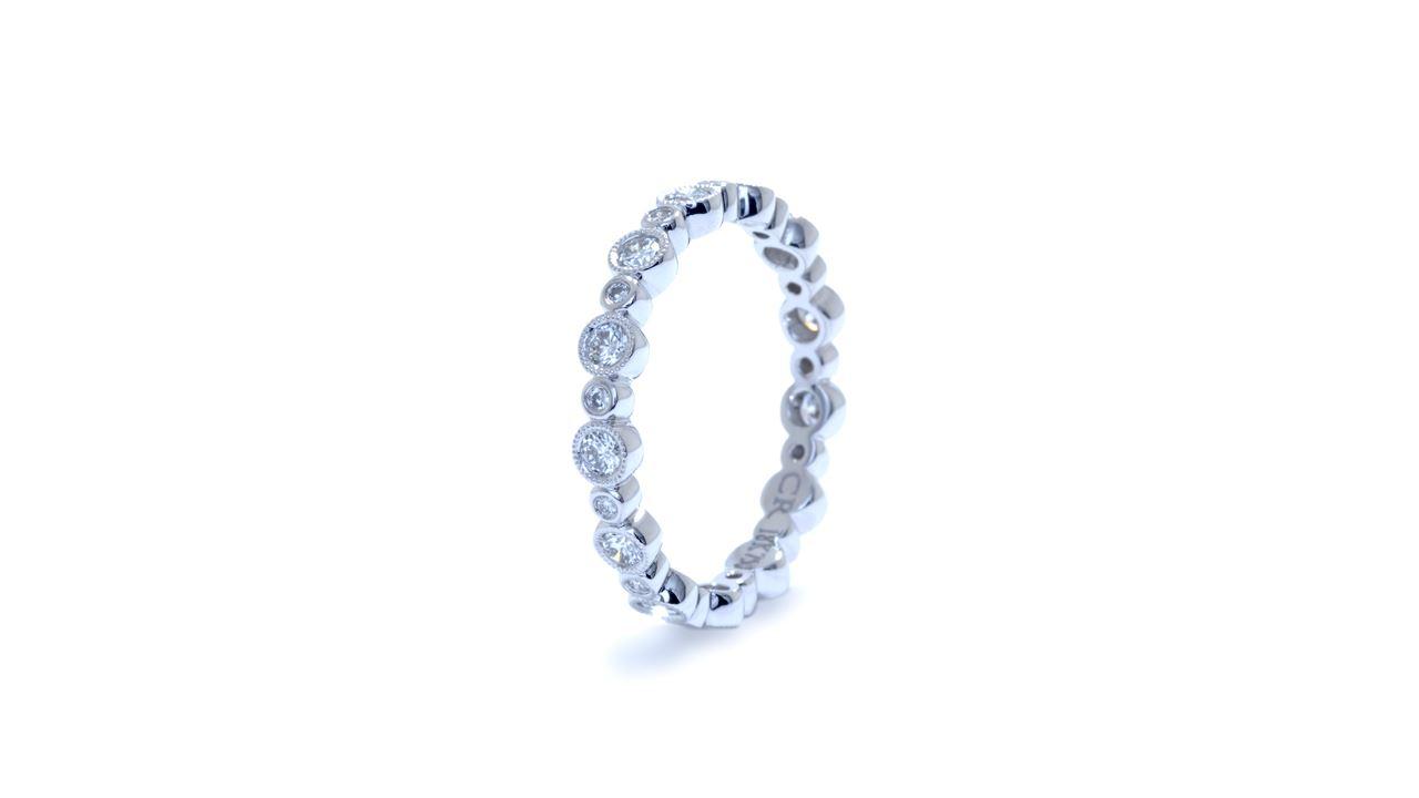 ja7872 -  0.54 ctw. Bezel Set Diamond Eternity Band at Ascot Diamonds