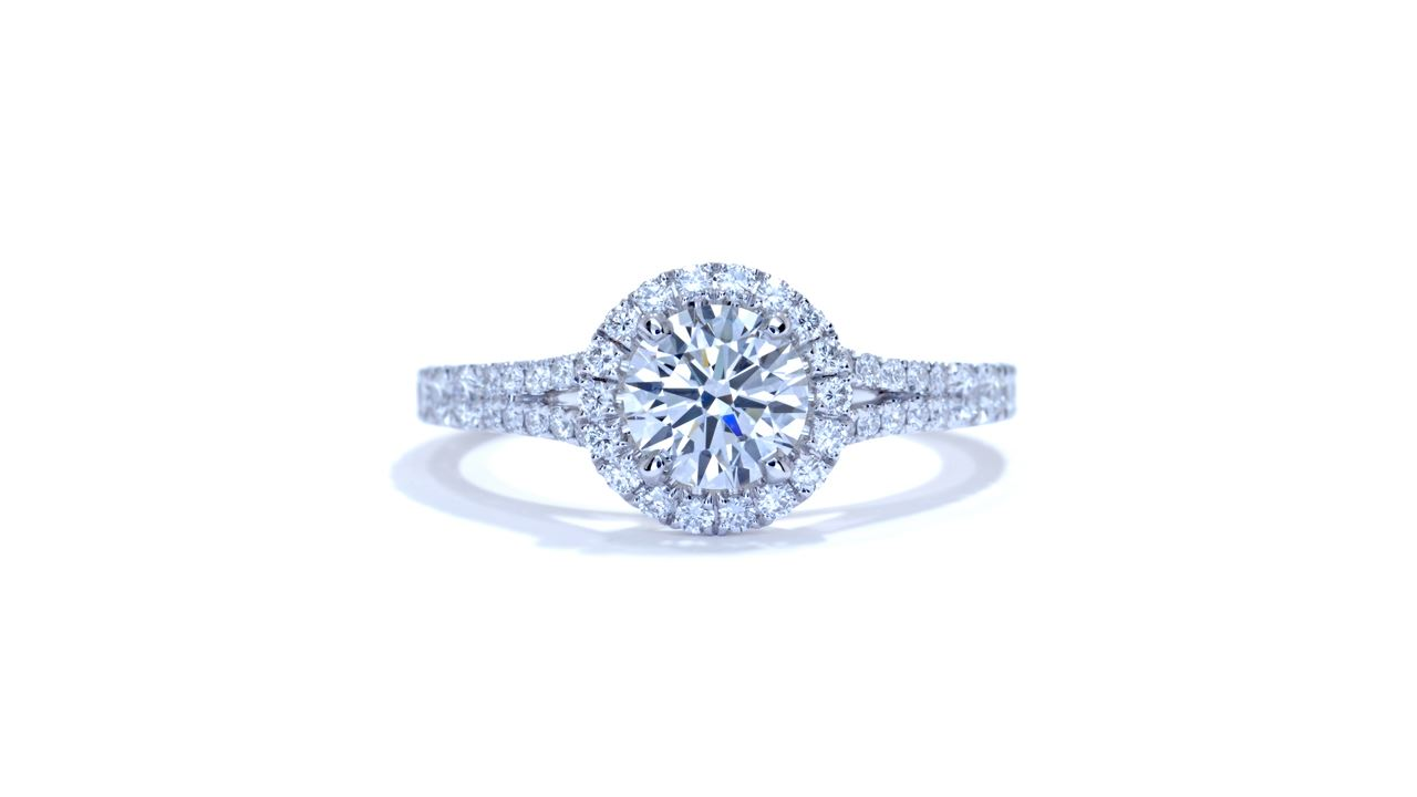 ja7943_d5171 - 0.80 ct. Round Diamond Halo Engagement Ring at Ascot Diamonds