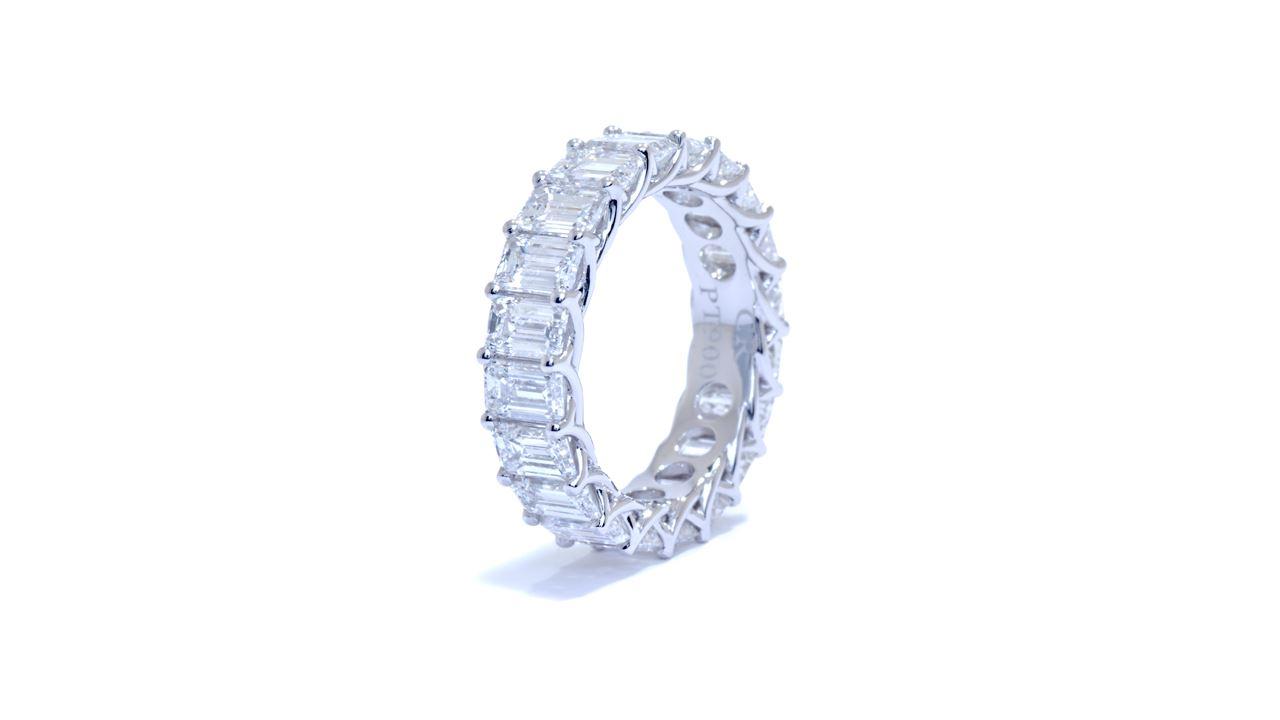 ja7974 - Emerald Cut Diamond Eternity Band 6.16 ct. tw. (in platinum) at Ascot Diamonds