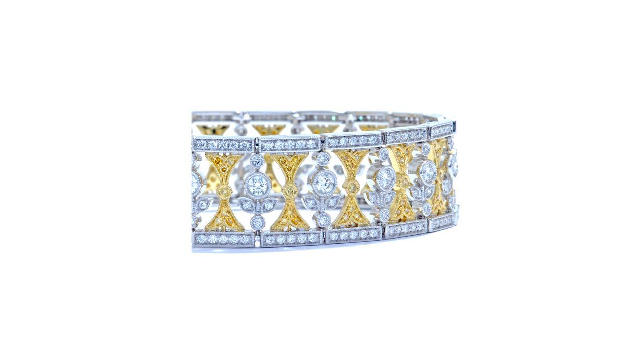 ja7986 - Royal Diamond Bracelet with Millgrain at Ascot Diamonds