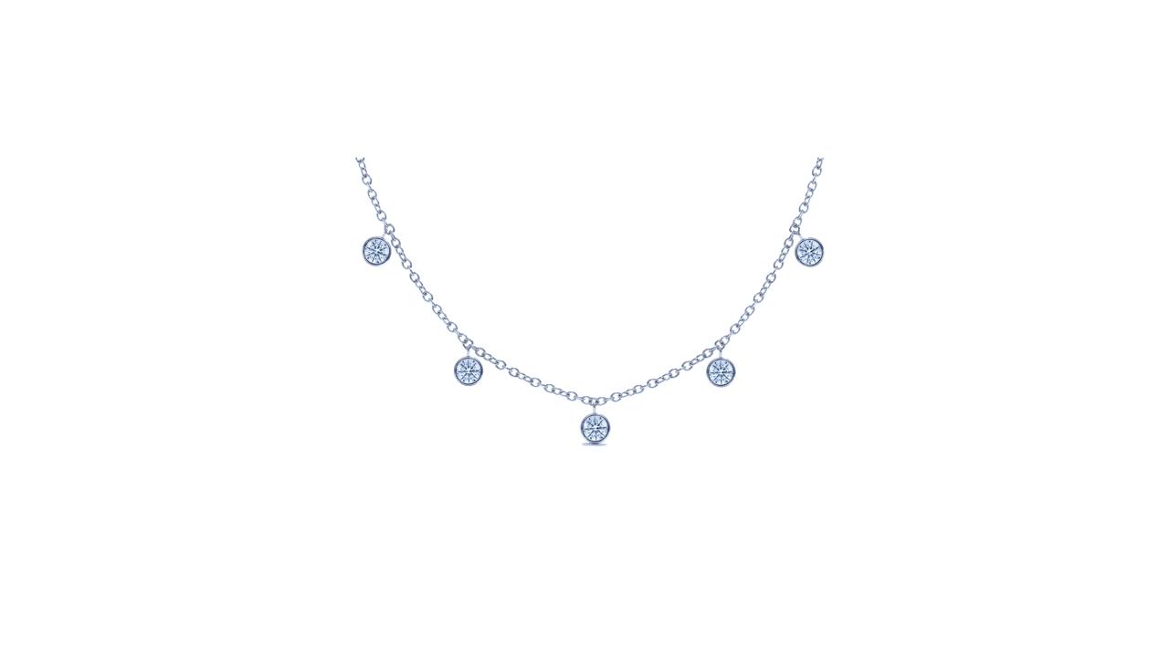 ja8250 - 1 carat Diamond Bezel Necklace at Ascot Diamonds