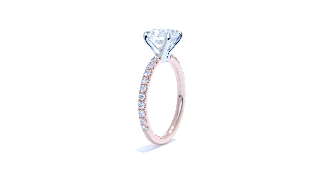 ja8269_d5737 - Rose Gold Solitaire Diamond Ring at Ascot Diamonds