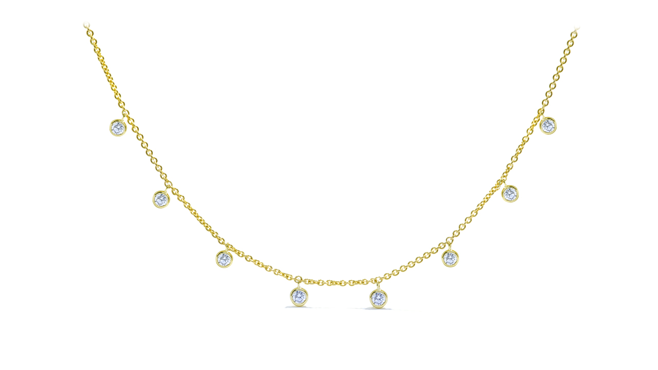 ja8279 - Diamonds by the Yard Necklace 0.72 ct. tw. (in 14k yellow gold) at Ascot Diamonds