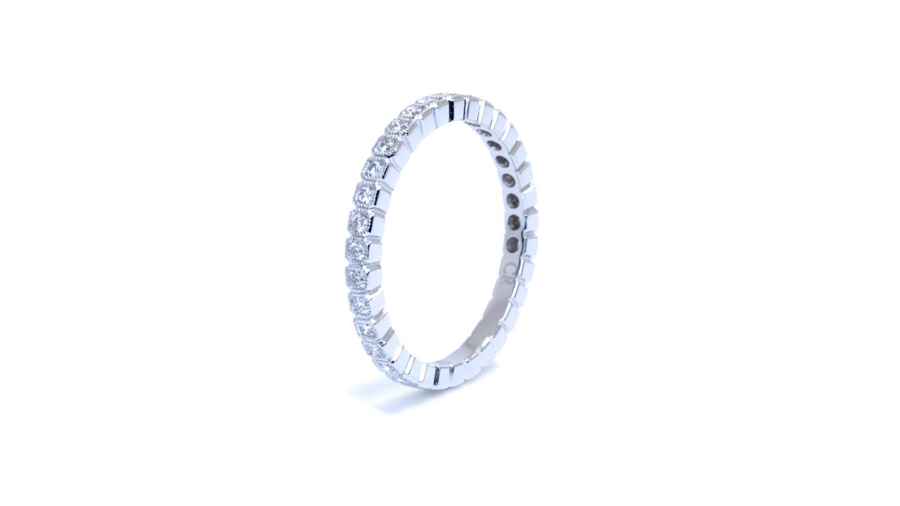 ja8387 - Custom Diamond Wedding Band 18kw at Ascot Diamonds