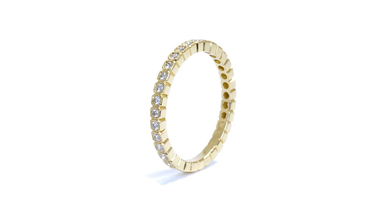 ja8388 - Stacking Yellow Gold Diamond Wedding Ring at Ascot Diamonds