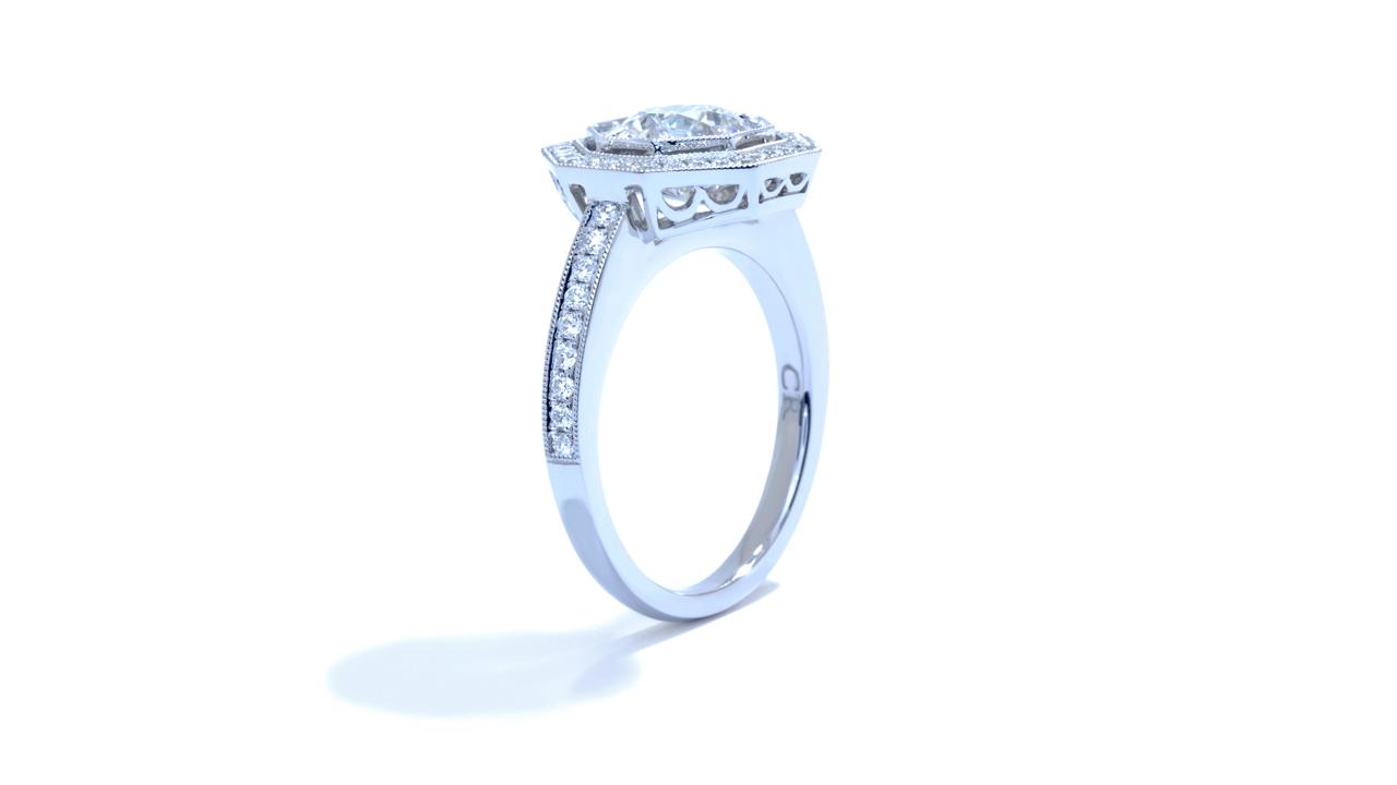 ja8396_lgd1068 - 1.7 ct Round Lab Created Diamond Ring  at Ascot Diamonds
