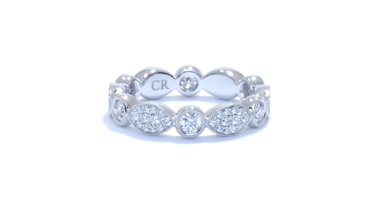 ja8473 - Anniversary Eternity Diamond Band 0.99 ct. tw. (in 18k white gold) at Ascot Diamonds