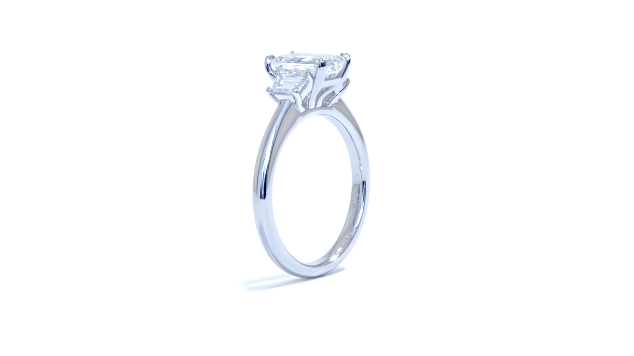 ja8516_lgd1756 - Emerald Cut Diamond Engagement Ring at Ascot Diamonds