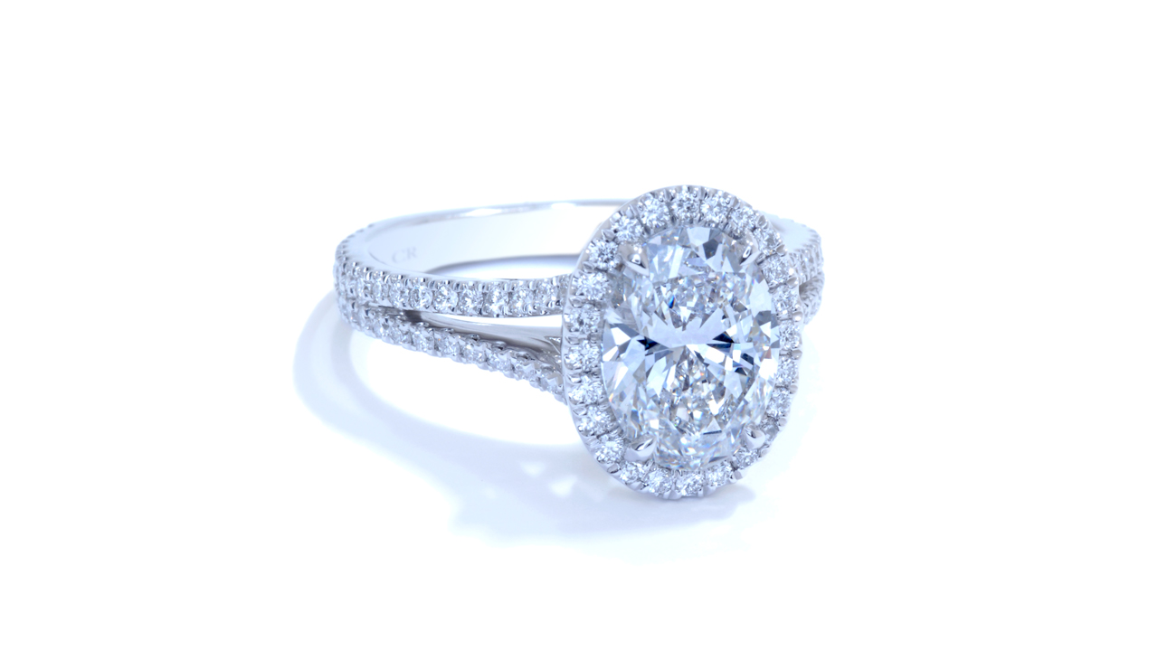 ja8609_d6418 - 2ct Oval Halo Diamond Engagement Ring at Ascot Diamonds