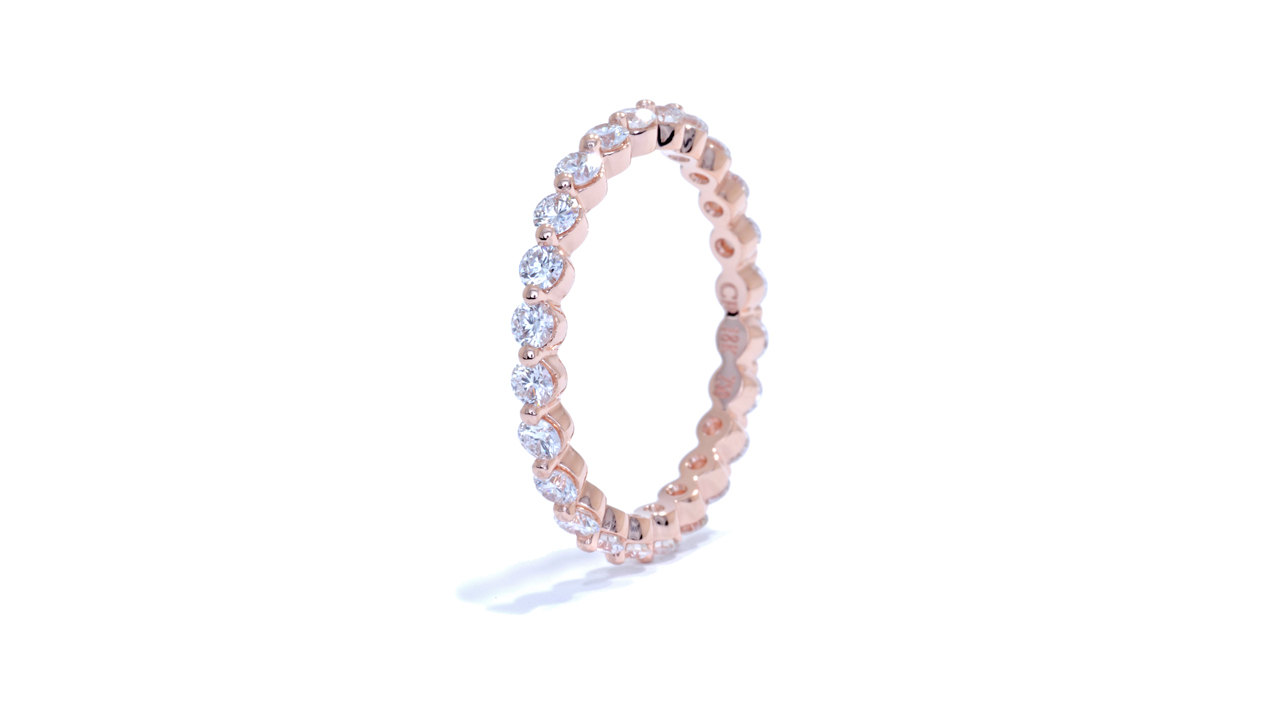 ja8747 - Floating Diamond Eternity Band in Rose Gold at Ascot Diamonds