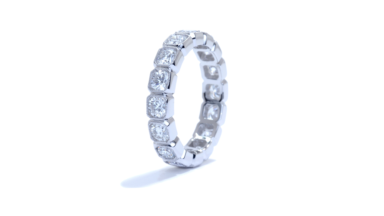ja8920 - Bezel Set Diamond Eternity Band 1.98 ct. tw. (in 18k white gold) at Ascot Diamonds