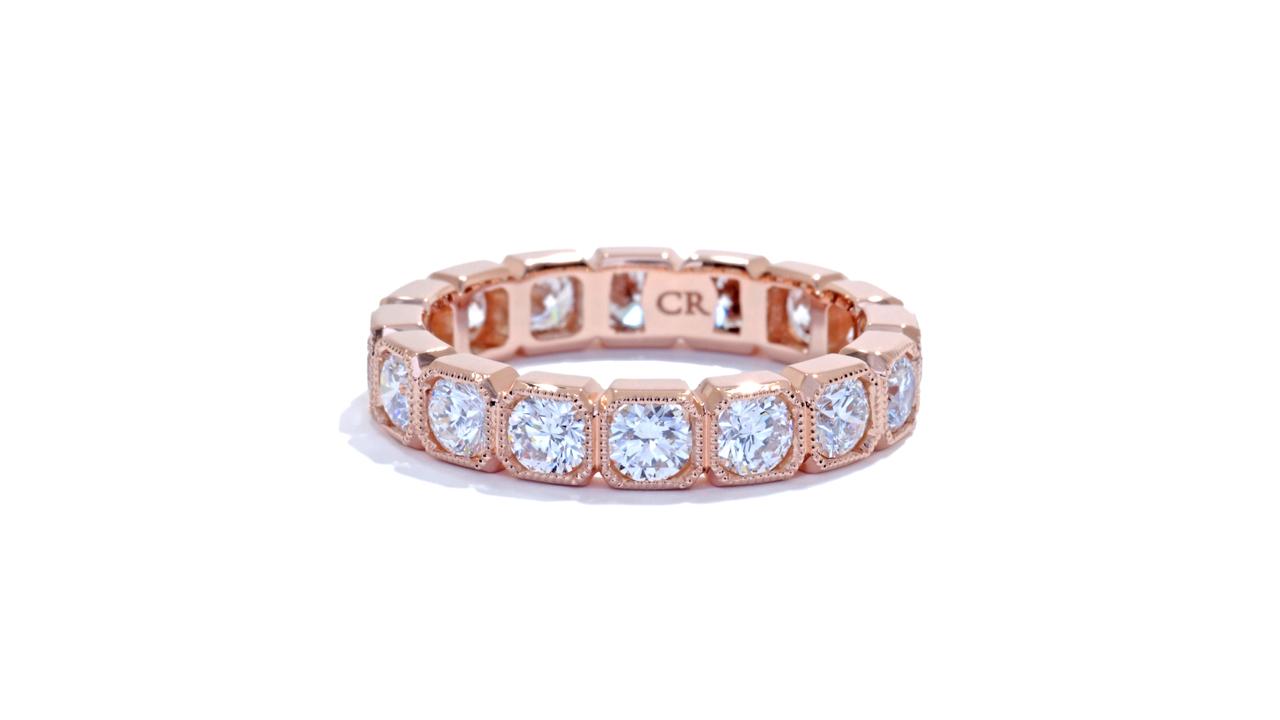 ja8921 - Bezel Set Diamond Eternity Band 2.04 ct. tw. (in 18k rose gold) at Ascot Diamonds