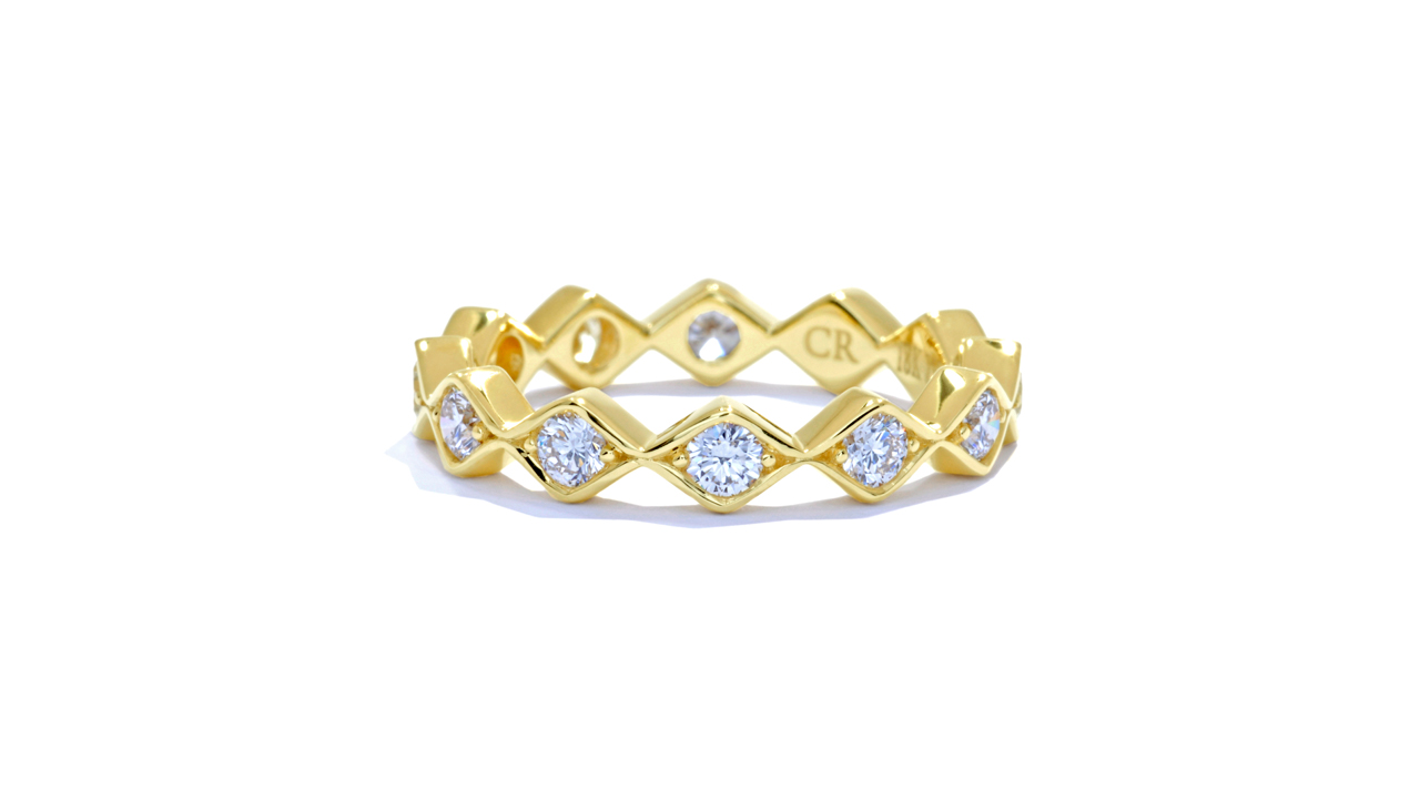 ja8981 - 0.79ct. Yellow Gold Bohemian Stacking Band  at Ascot Diamonds