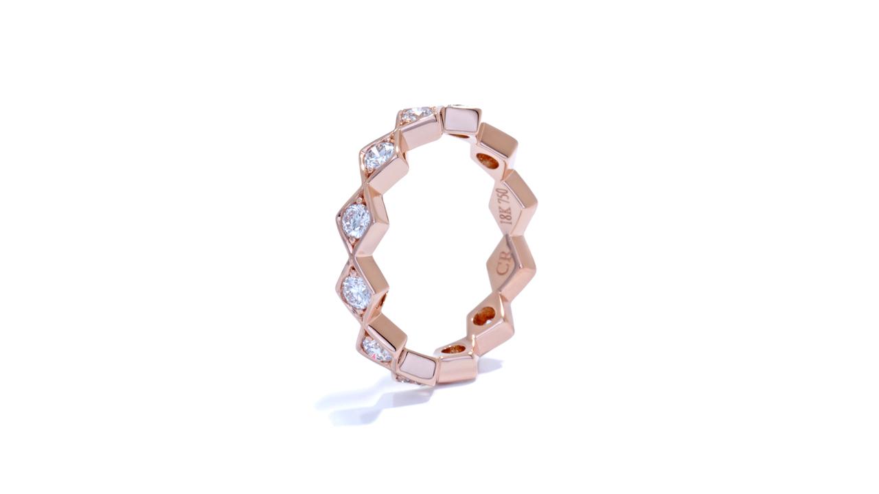 ja8982 - 0.79ct. Rose Gold Bohemian Stacking Band  at Ascot Diamonds
