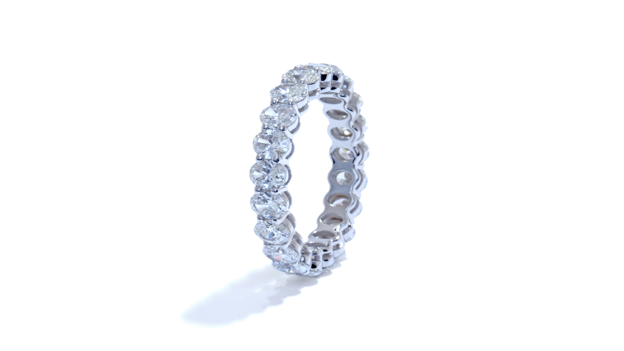 ja9010 - Oval Cut Diamond Eternity Band 3.49 ct. tw. (in 18k white gold) at Ascot Diamonds