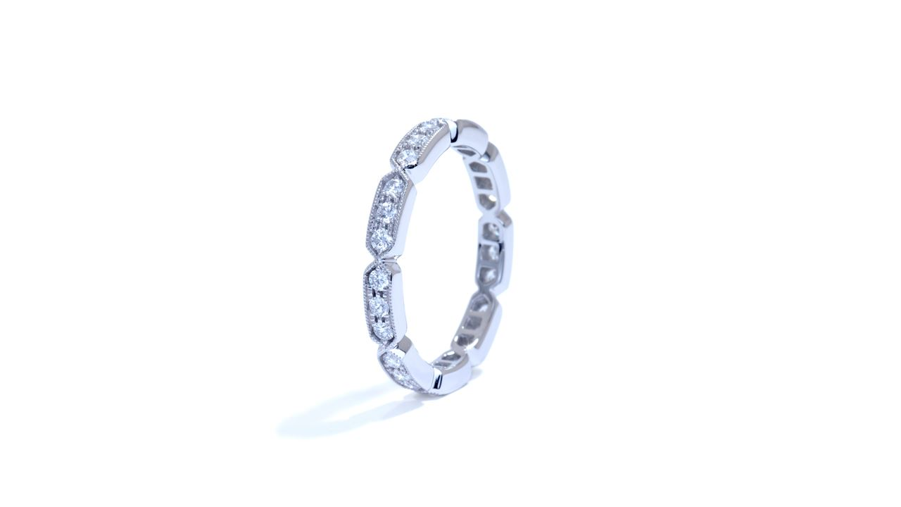 ja9079 - 0.46 ct. Vintage Style Eternity Diamond Band at Ascot Diamonds