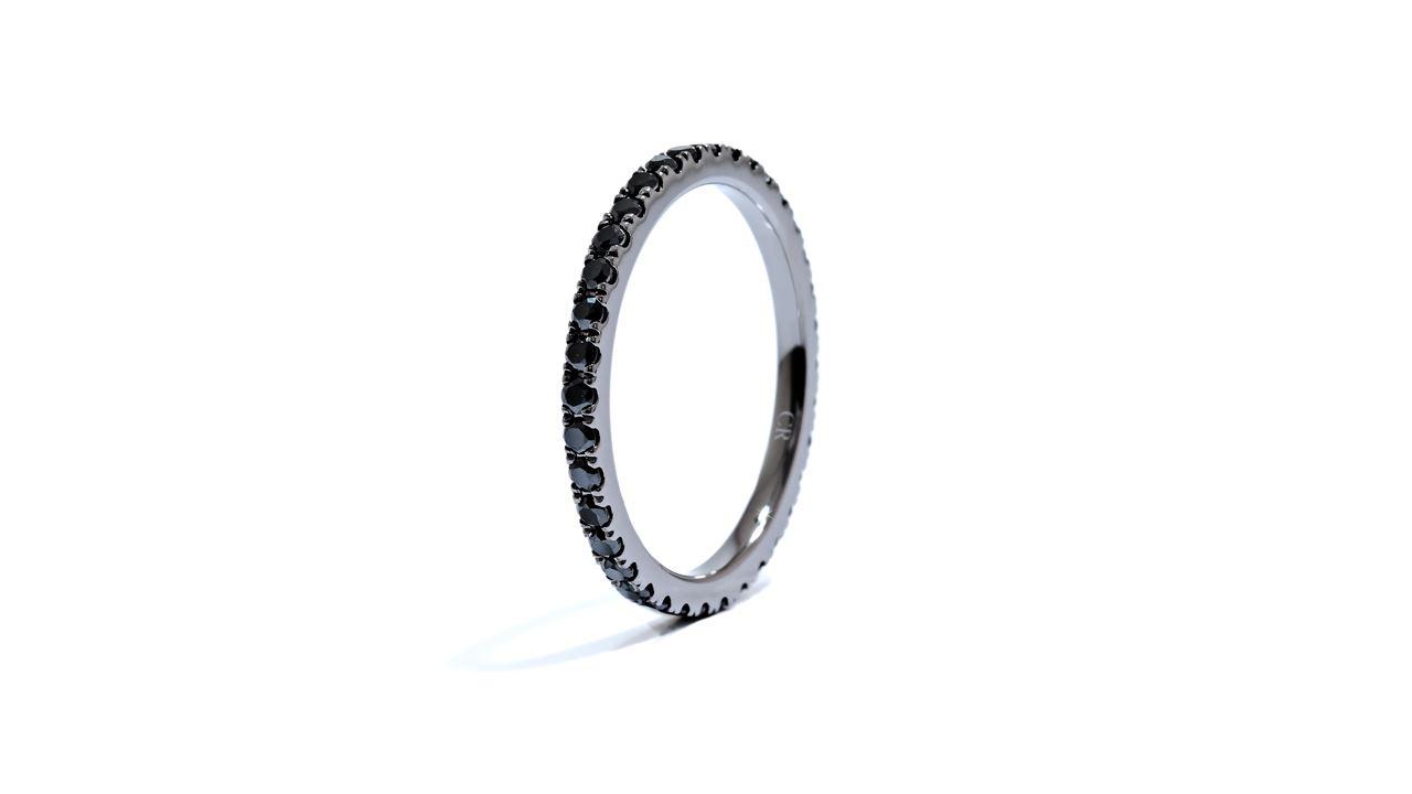 ja9094 - Eternity Black Diamond Wedding Band at Ascot Diamonds