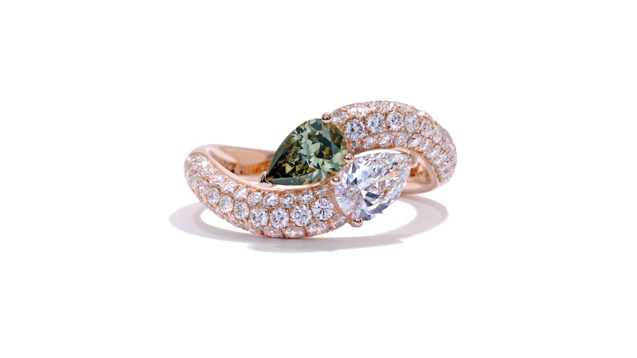 ja9129 - Serpentine Custom Diamond Ring 1.72 ct.  at Ascot Diamonds