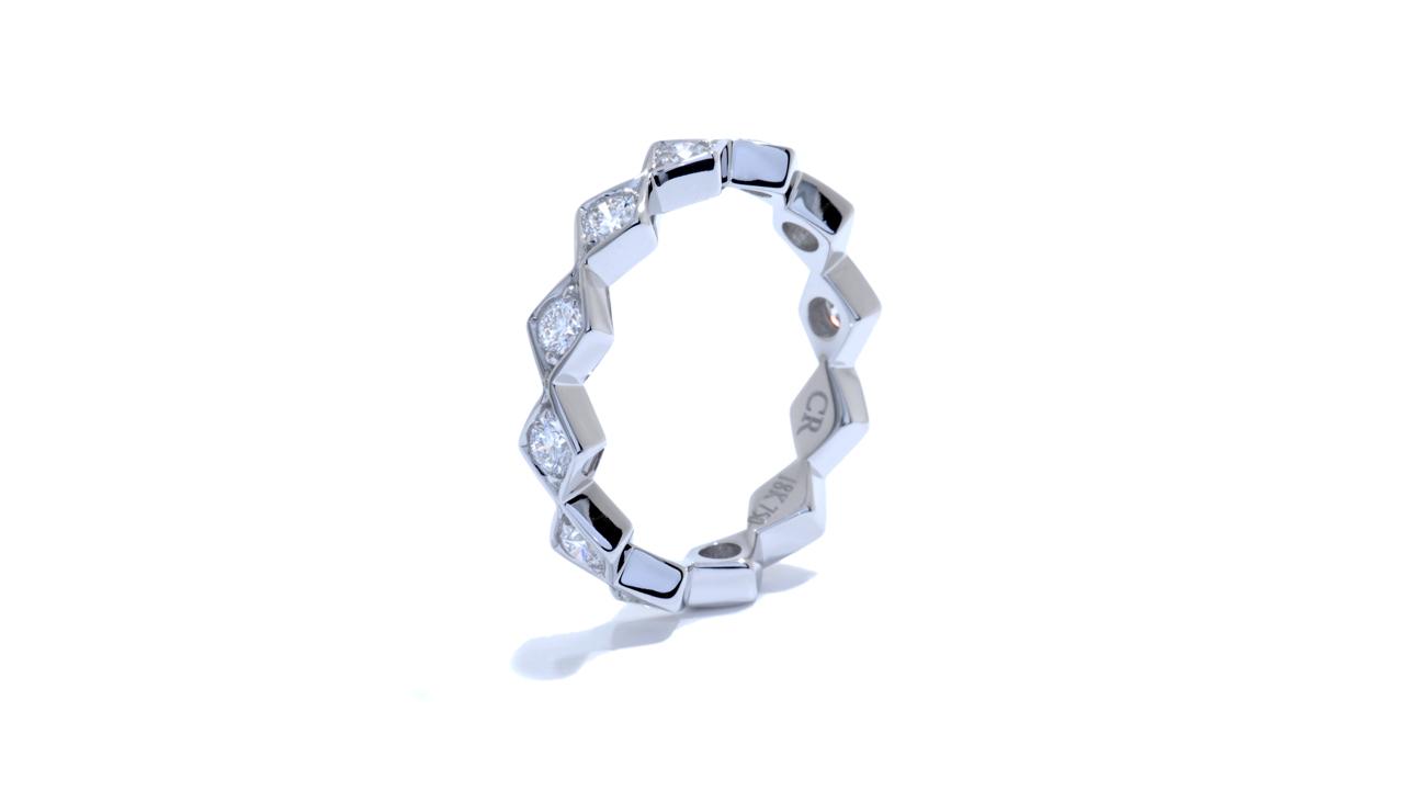 ja9130 - White Gold Bohemian Stacking Band 0.78 ct.  at Ascot Diamonds