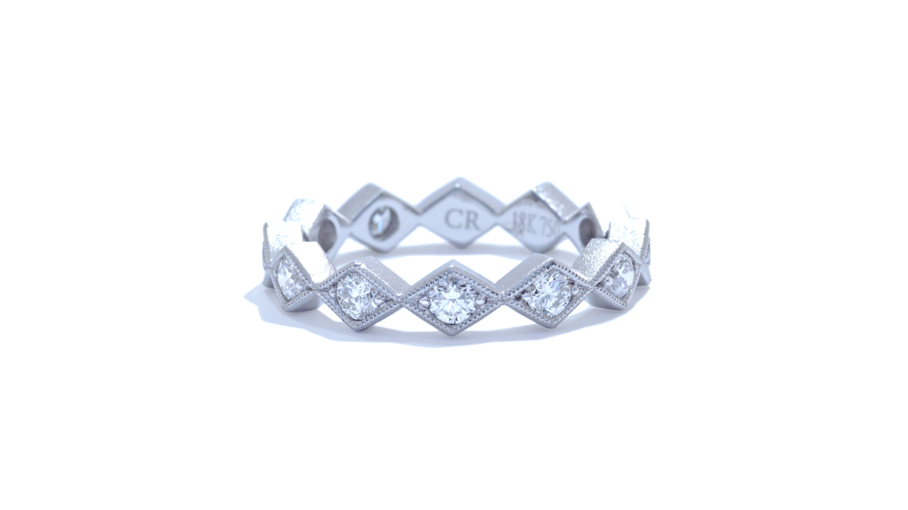 ja9132 - 0.83 ct. Milgrain Bohemian Stacking Band  at Ascot Diamonds