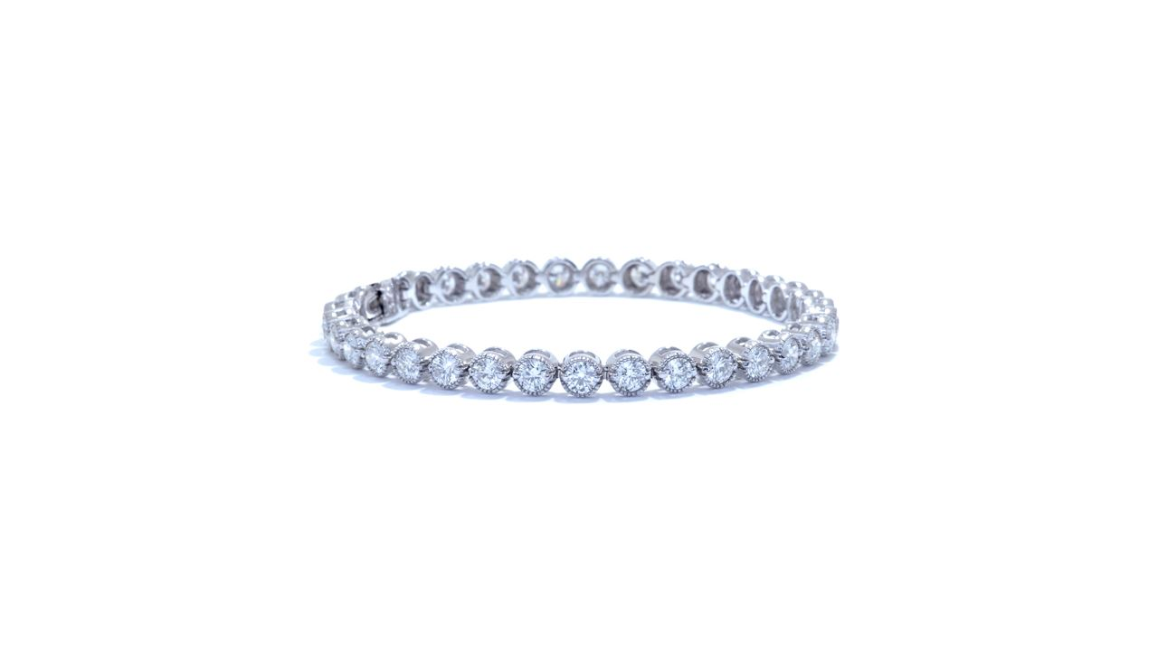 ja9142 - Custom Round Bezel Set Diamond Bracelet at Ascot Diamonds
