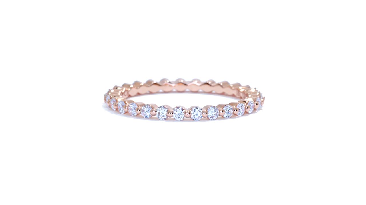 ja9164 - Stacking Rose Gold Diamond Eternity Ring  at Ascot Diamonds