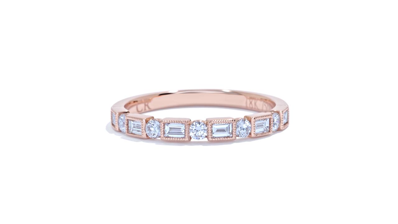 ja9205 - 0.40 ct. Round Diamond Baguette Band  at Ascot Diamonds
