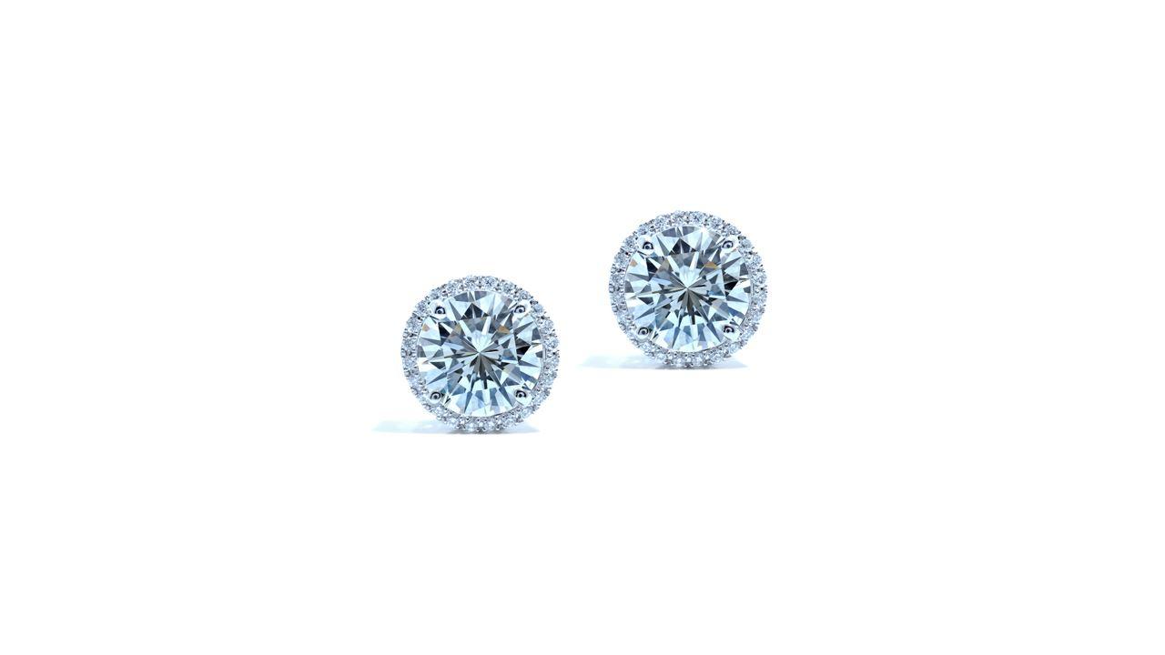 ja9291 - Round Diamond Earring Jackets at Ascot Diamonds
