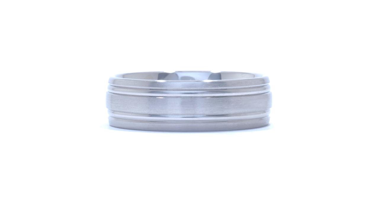 ja9299 - Satin 7mm Wide Men's Wedding Ring at Ascot Diamonds