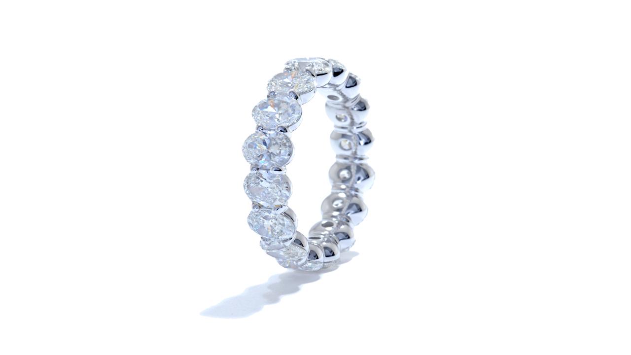 ja9369 - Oval Cut Diamond Eternity Band 6.12 ct. tw. (in platinum) at Ascot Diamonds
