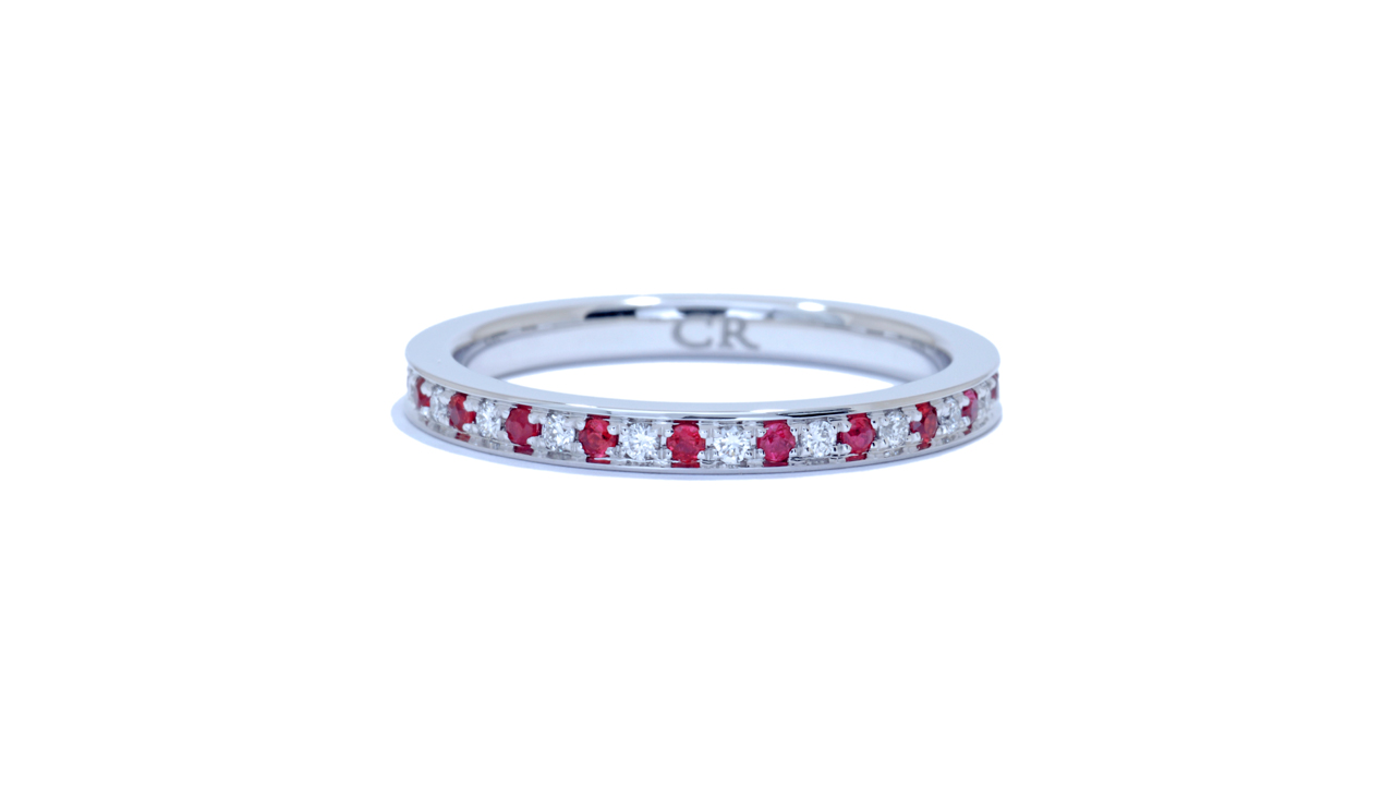 ja9795 - 0.59 ct. Round Diamond And Ruby Band at Ascot Diamonds
