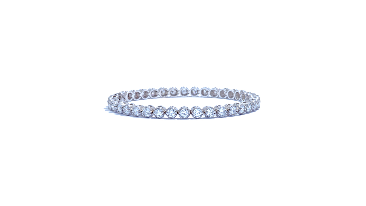 ja9898 - 4.28 ct Art-Deco Diamond Bezel-Set Bracelet at Ascot Diamonds