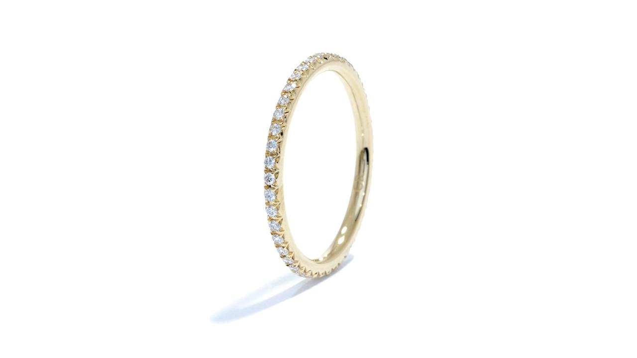 ja9902 - Yellow Gold Thin Diamond Band at Ascot Diamonds