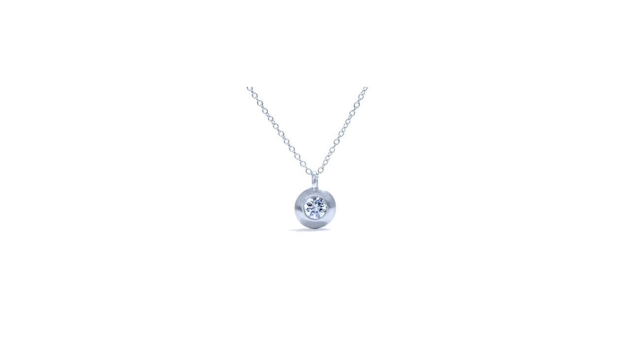 jb1057 - Delicate Solitaire Necklace | Bezel Set at Ascot Diamonds