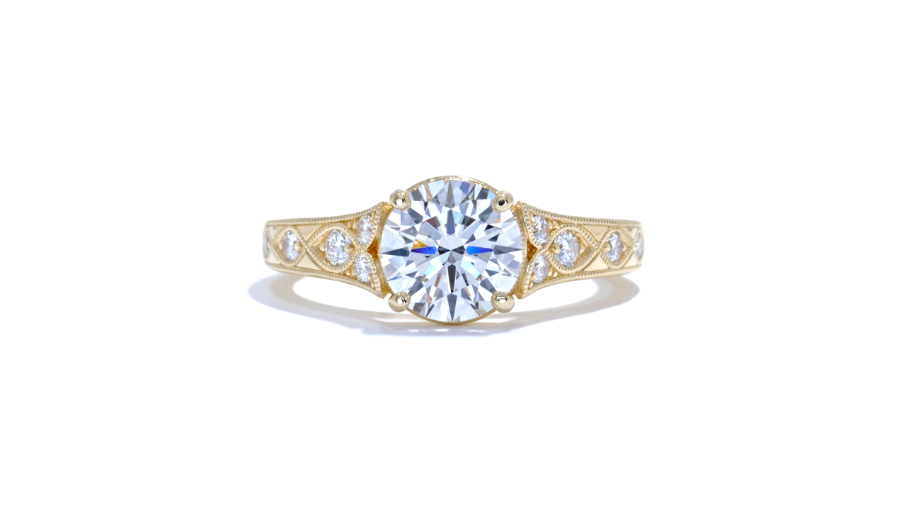 jb1267_lgd1166 - Vintage Custom Engagement Ring at Ascot Diamonds