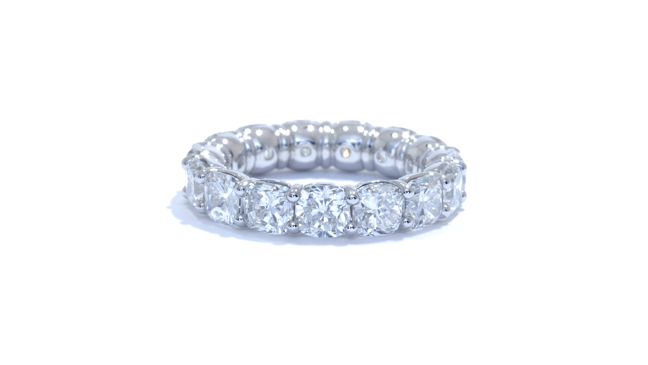 jb1345 - Cushion Diamond Eternity Band at Ascot Diamonds