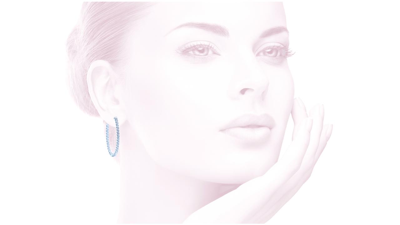 jb1373 - Elegant Diamond Hoop Earrings 0.87ct at Ascot Diamonds