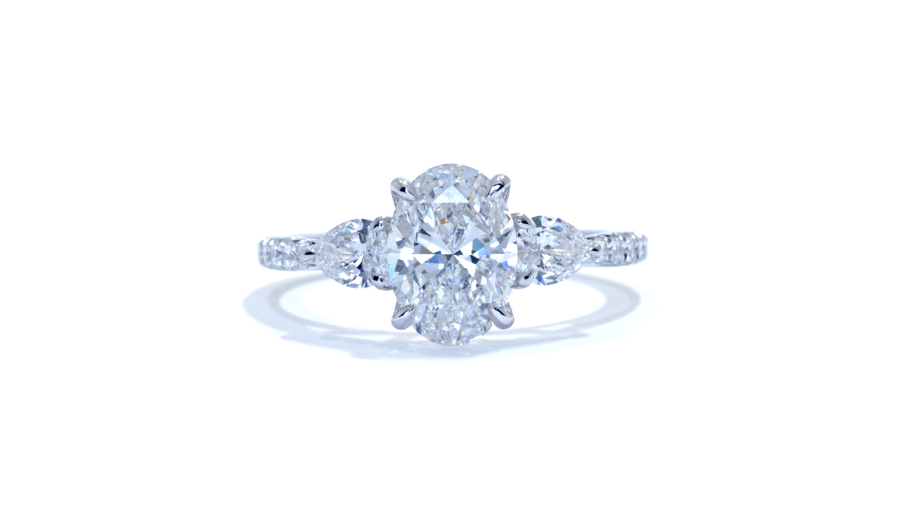 jb1423_lgd1452 - Oval Diamond Ring | Lab Grown at Ascot Diamonds