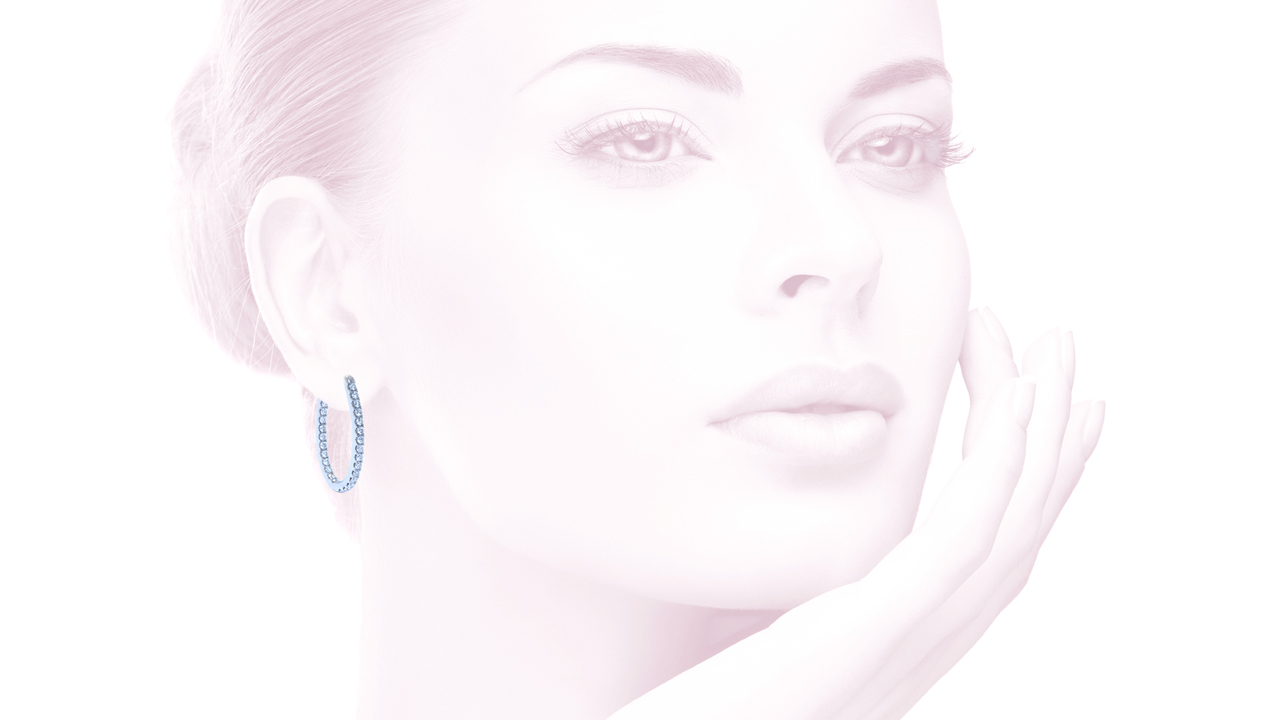 jb1562 - Diamond Hoop Earrings 0.56ct. tw. at Ascot Diamonds