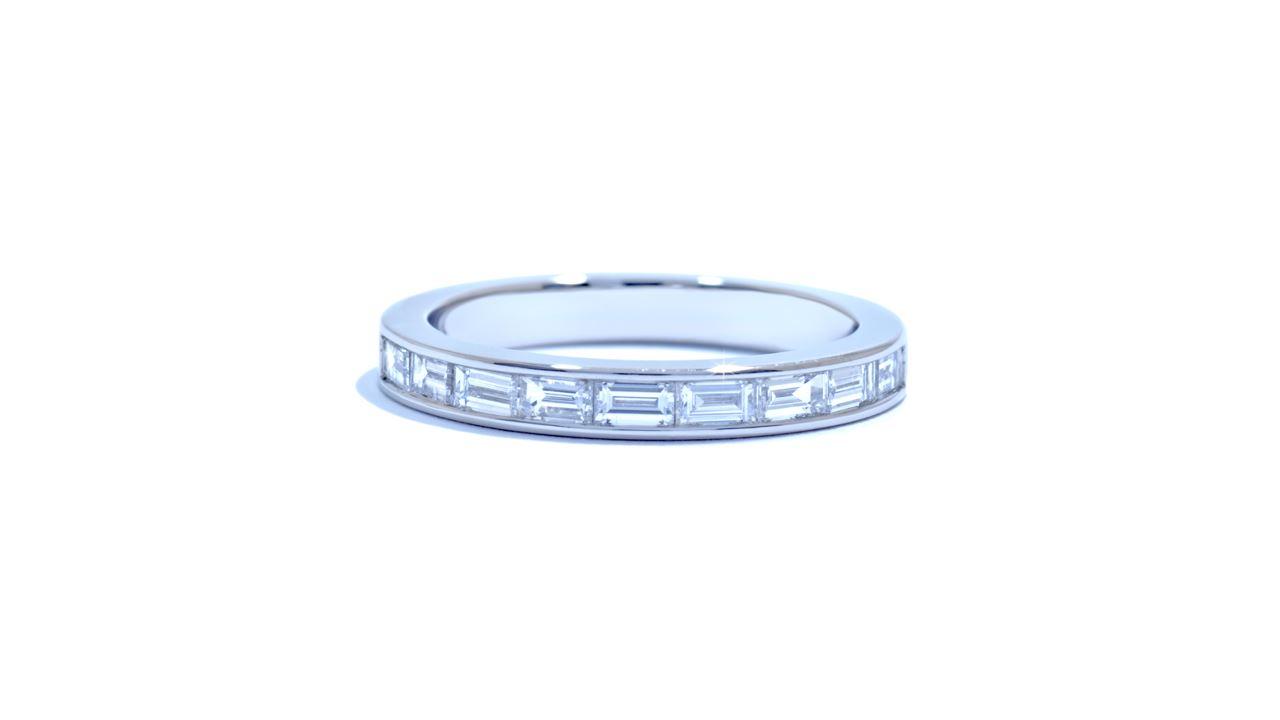 jb1573 -  Platinum Baguette Diamond Wedding Band at Ascot Diamonds