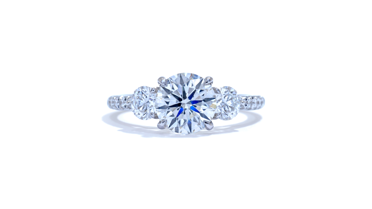 jb1642_d5142 - 1.3 ct. Round Cut Diamond | Three Stone Ring at Ascot Diamonds