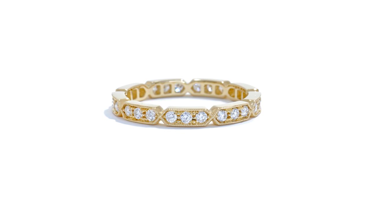 jb1655 - Stacking 18k Yellow Gold Diamond Band at Ascot Diamonds
