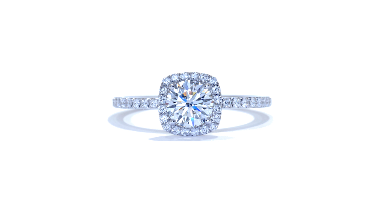 jb1715_d6002 - 1.00 ct. Round Diamond Halo Engagement Ring at Ascot Diamonds